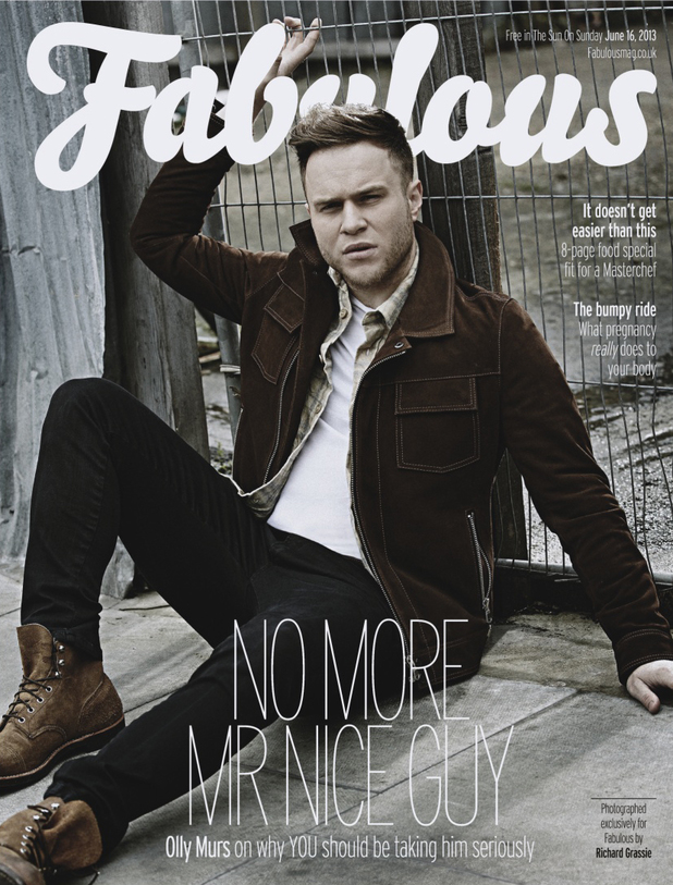 Olly Murs on the front cover of 'Fabulous' magazine