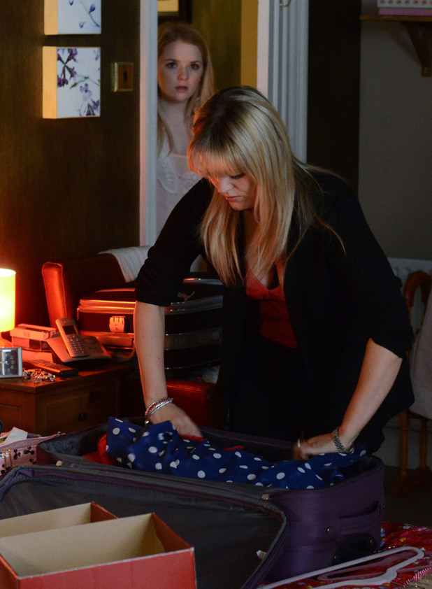 Abi walks in on Tanya packing her suitcase.