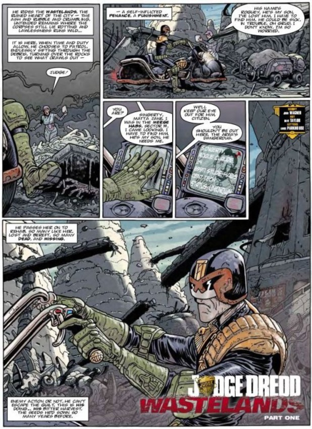 'Judge Dredd: Wastelands'  preview