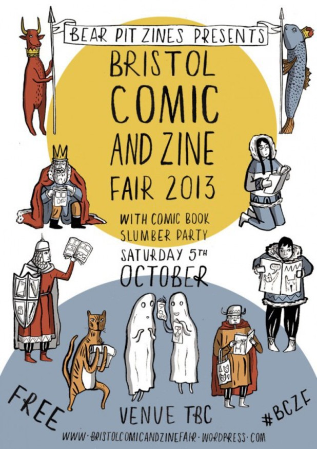 Bristol Comic and Zine Fair 2013 poster