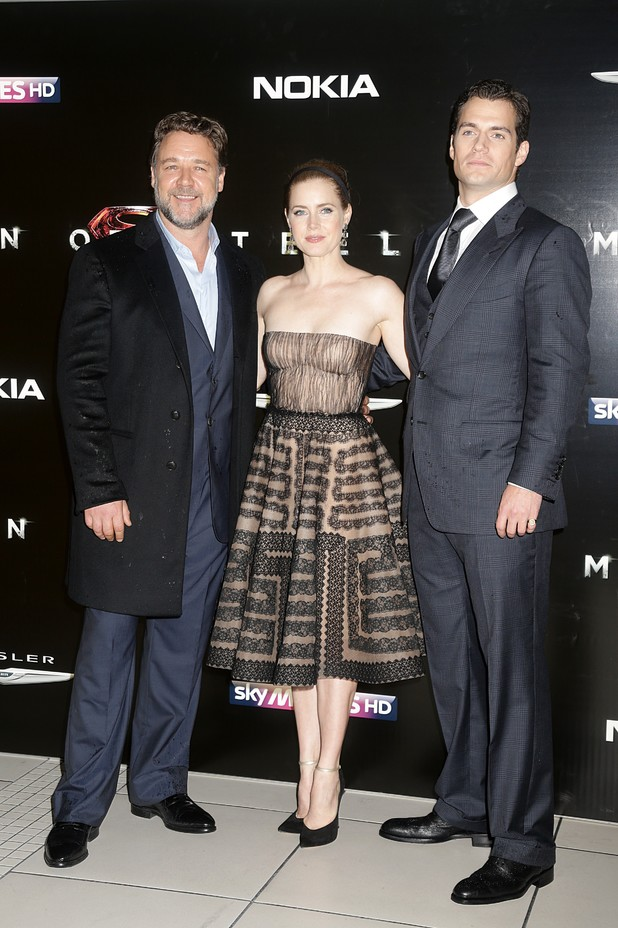 Russell Crowe, Amy Adams and Henry Cavill