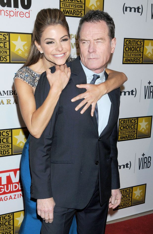 Maria Menounos and Bryan Cranston