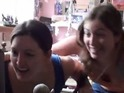 Original video shows two sisters shrieking and overwhelmed with excitement.
