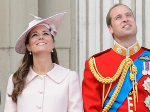 (L4 available) Duchess of Cambridge, Prince William, trooping colour, Horse Guards Parade, Alexander McQueen, The Queen