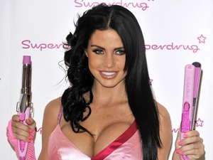 Katie Price launches the new Katie Price Electrical Haircare Range at Superdrug, London, Britain - 29 Oct 2008