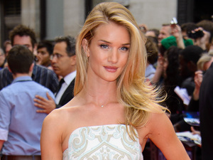Rosie Huntington-Whiteley, The World Premiere of 'Hummingbird' at Odeon West End, corset dress