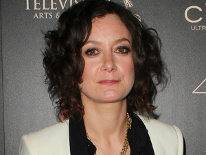 Sara Gilbert arriving at the 40th Annual Daytime Emmy Awards