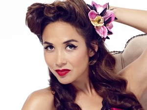 Myleene Klass models her nightwear range for Littlewoods