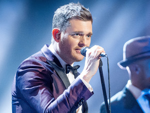 Michael Buble performs on the live final of The Voice.