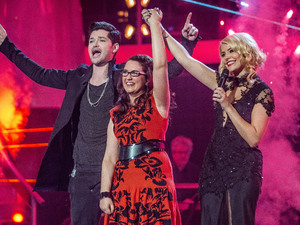 Andrea Begley is crowned winner of The Voice 2013.