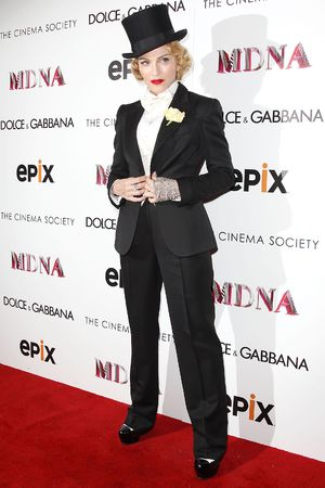 Madonna, 'Madonna: The MDNA Tour' Cinema Society World Premiere, New York, circus, ringmaster