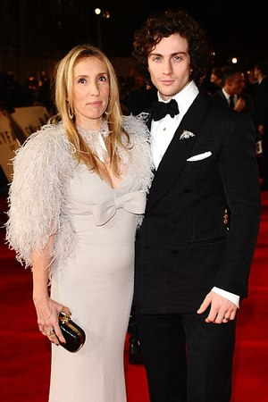 Sam and Aaron Taylor-Johnson arriving for the Royal World premiere of Skyfall at the Royal Albert Hall
