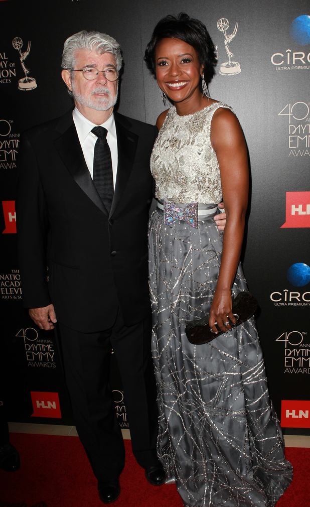 George Lucas and Mellody Hobson arriving at the 40th Annual Daytime Emmy Awards