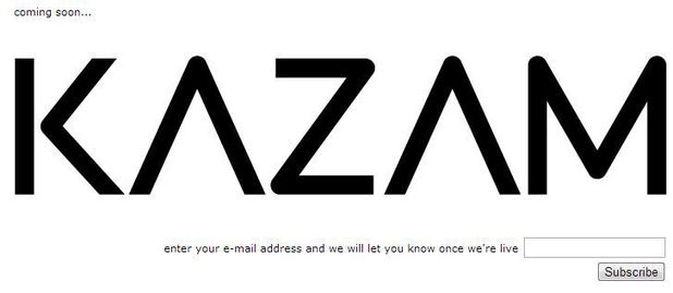 A screenshot of the Kazam website