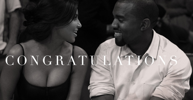 Beyonce congratulates Kim and Kanye on her website