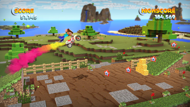 Minecraft Environments in 'Joe Danger' on PC