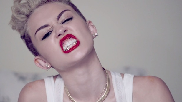 Miley Cyrus 'We Can't Stop' music video still.