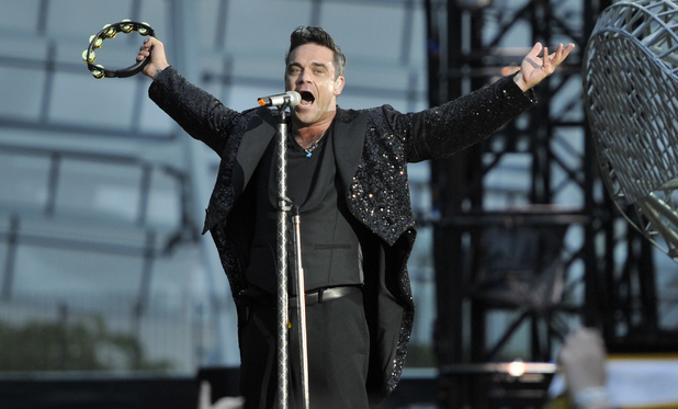 Robbie Williams Performs At The Aviva Stadium, Dublin on the opening night of his 'Take The Crown' world tour