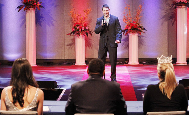 'The Bachelorette' S09E04: Bryden during the Mr. America show