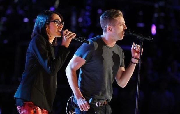 Michelle Chamuel & One Republic during the finale of 'The Voice'