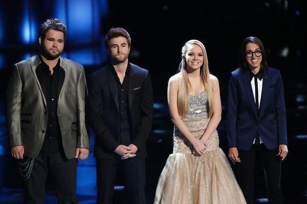 The Swon Brothers, Danielle Bradbery & Michelle Chamuel during the finale of 'The Voice'