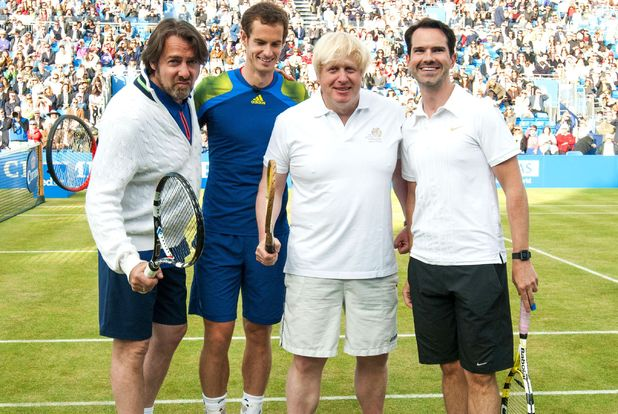 Jonathan Ross, Andy Murray, Boris Johnson and Jimmy Carr