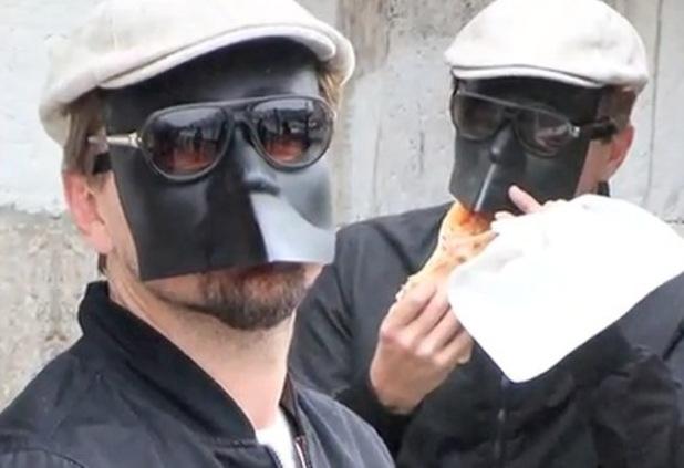 Leonardo DiCaprio, mask, Pizza, Venice, celebrities in disguise