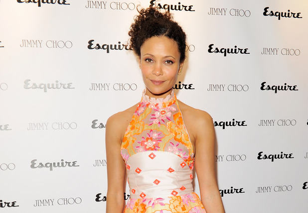 Thandie Newton attends the Jimmy Choo and Esquire opening night of London Collections:Men at 5 Hertford Street, London