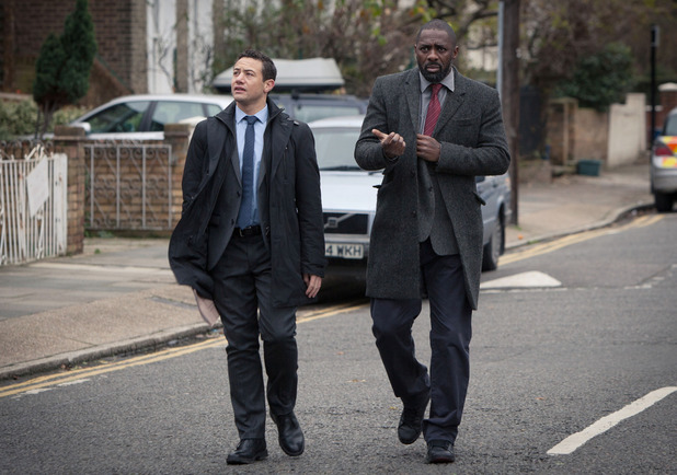Luther - Series 3, Episode 1 - DCI John Luther (Idris Elba) and DS Justin Ripley (Warren Brown)