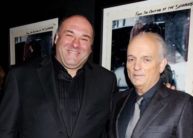 James Gandolfini and David Chase, 'Not Fade Away' screening, December 18 2012
