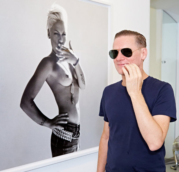 Bryan Adams, Pink topless photography, Bryan Adams 'Exposed' photographic exhibition press conference, Vienna, Austria