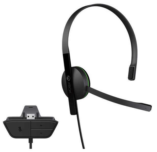 Xbox One chat headset and controller.