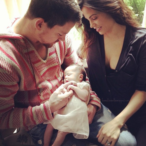 Channing Tatum and Jenna Dewan Tatum with their new baby girl Everly - first picture
