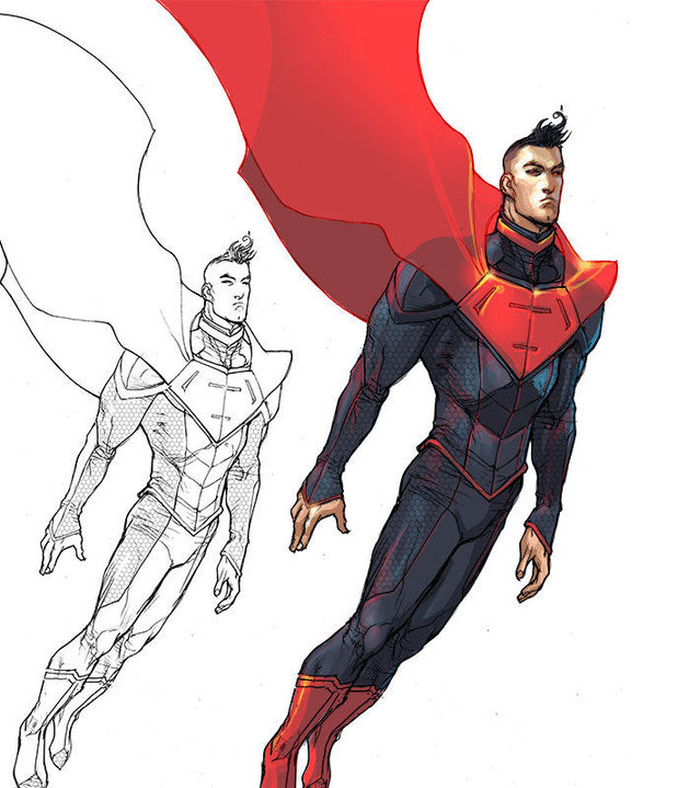 'Justice League 3000' Superman design
