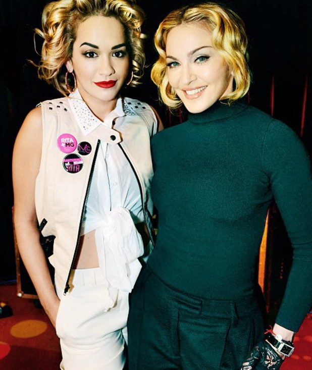 Madonna and Rita Ora ~~ Material Girl announcement