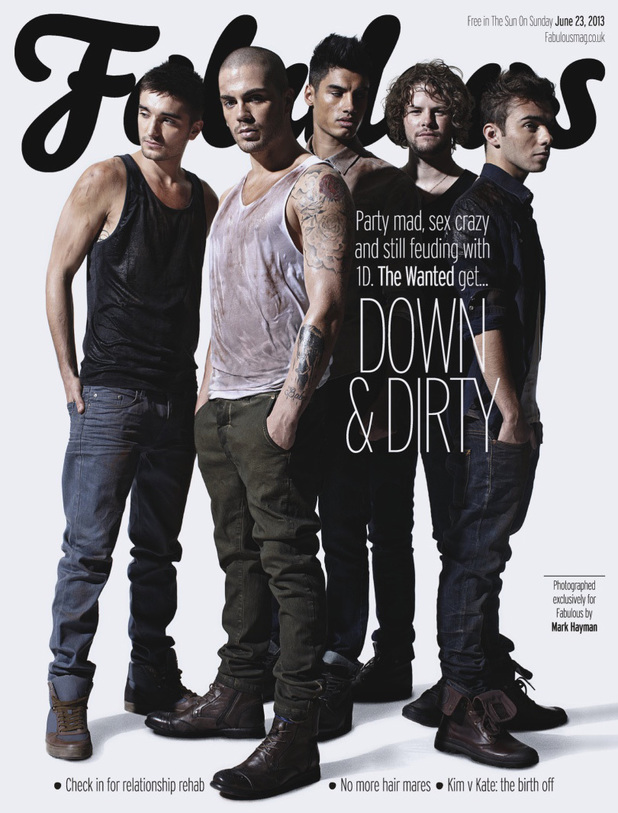 The Wanted for Fabulous magazine