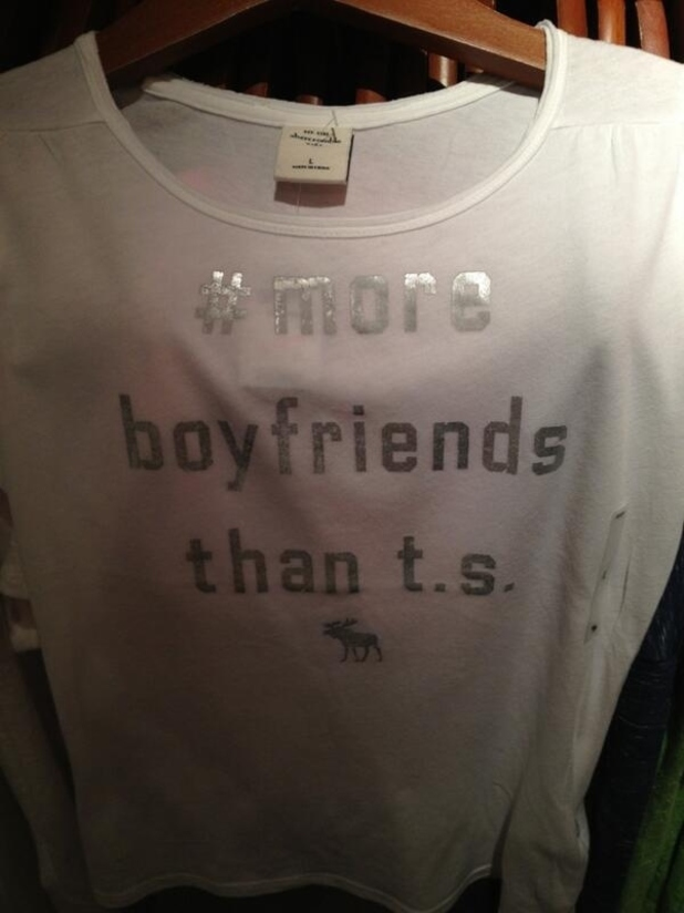 Taylor Swift 'boyfriend' Abercrombie & Fitch T-shirt