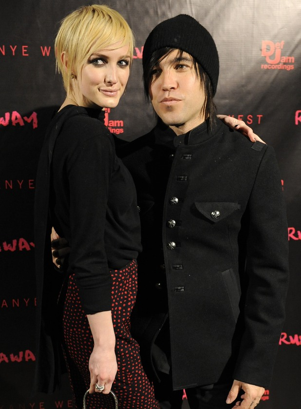 "Ashlee Simpson, Pete Wentz 2010 file photo, Pete Wentz and his wife Ashlee Simpson-Wentz arrive for a screening of ""Runaway,"" in Los Angeles."