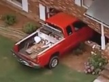 2-year-old drives truck into house
