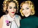 Rita reveals she's the new face of Madonna's clothing line Material Girl.