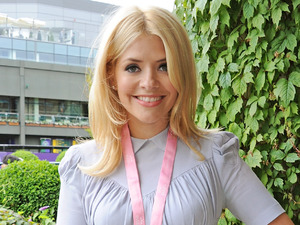 Holly Willoughby attends the evian 'Live Young' Suite at Wimbledon