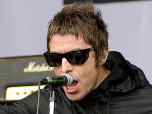 Liam Gallagher during Beady Eye's secret Glastonbury set