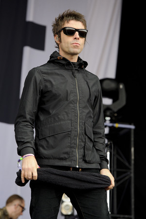 Liam Gallagher during Beady Eye's secret Glastonbury set