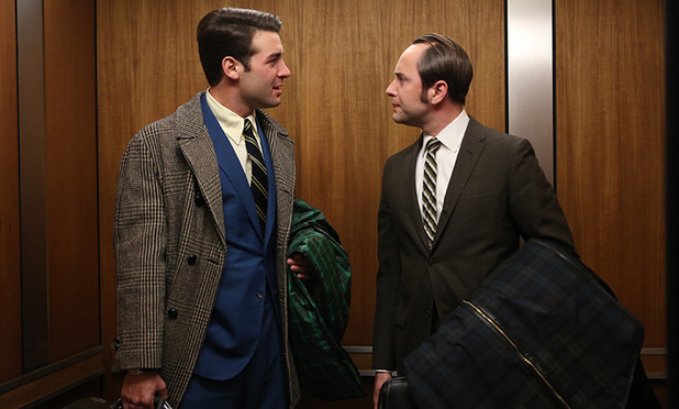Mad Men S06E13: Bob Benson (James Wolk) and Pete Campbell (Vincent Kartheiser)