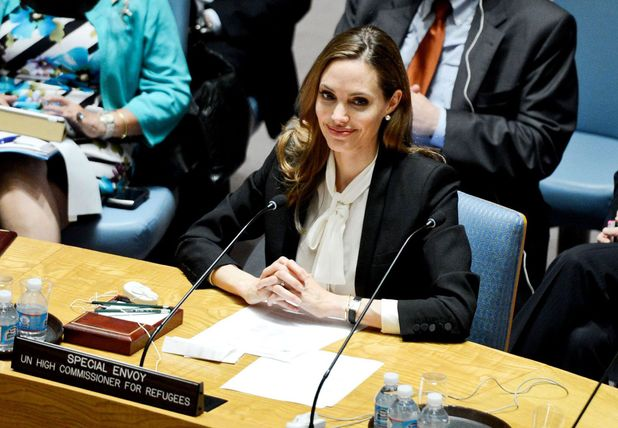 Angelina Jolie, Addresses UN On Sexual Violence in war zones,  Special Envoy of the United Nations High Commissioner for Refugees