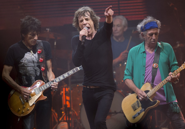 Mick Jagger, Ronnie Wood, Charlie Watts and Keith Richards
