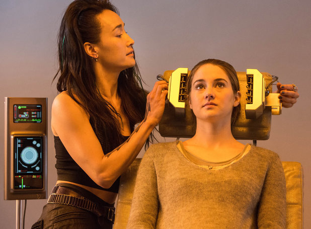 Maggie Q and Shailene Woodley in 'Divergent'