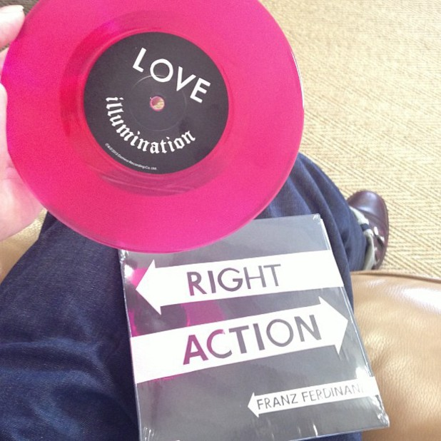 "Franz Ferdinand 'Right Action/Love Illumination' special edition pink 7"" vinyl"