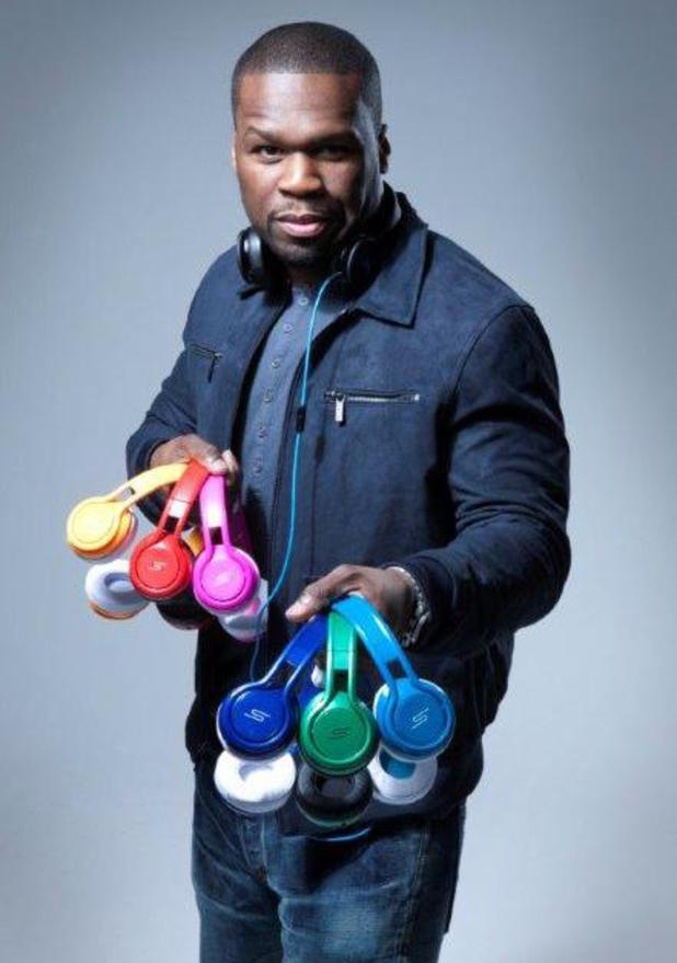 50 Cent presenting his STREET by 50 headphones