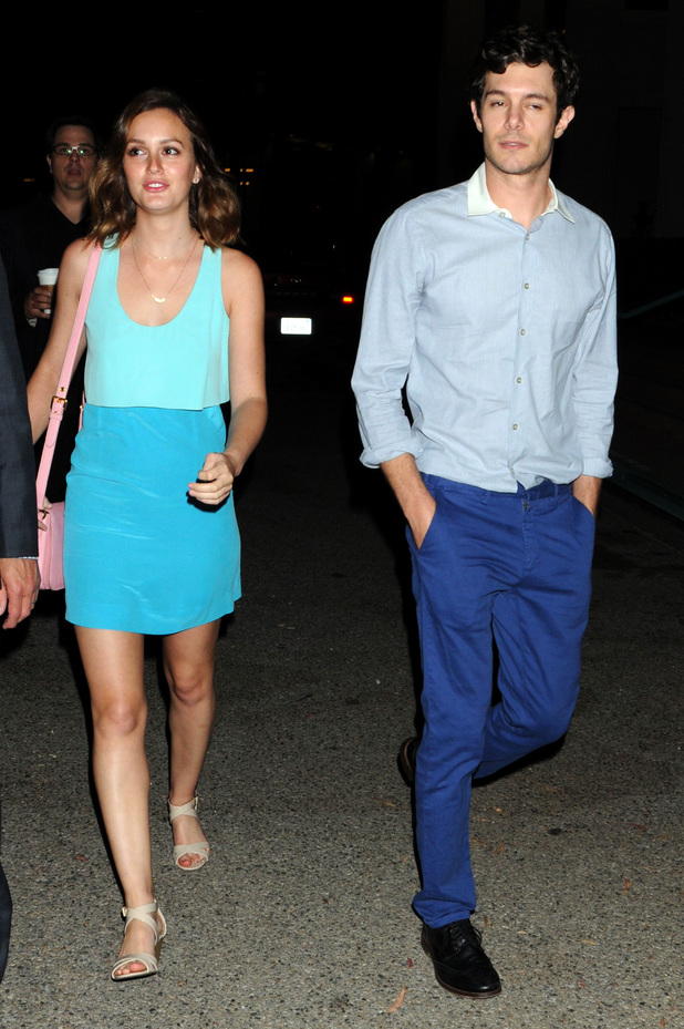 Adam Brody and girlfriend Leighton Meester out and about in Los Angeles